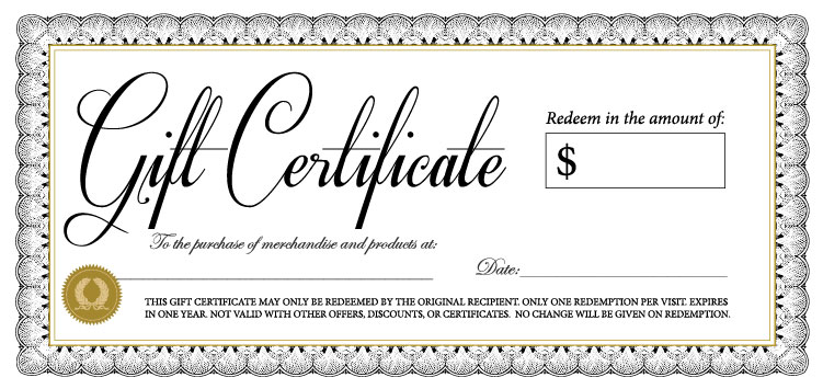 18 gift certificate templates excel pdf formats for Free customizable gift certificate template