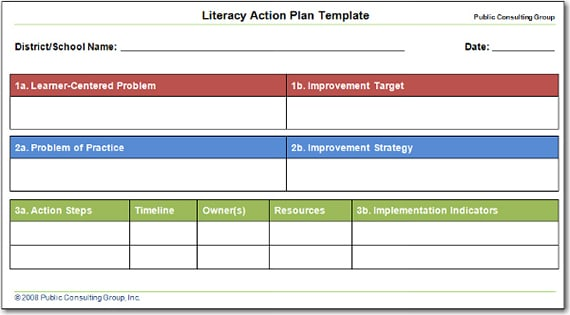 Word MS Templates  Action Planning Templates
