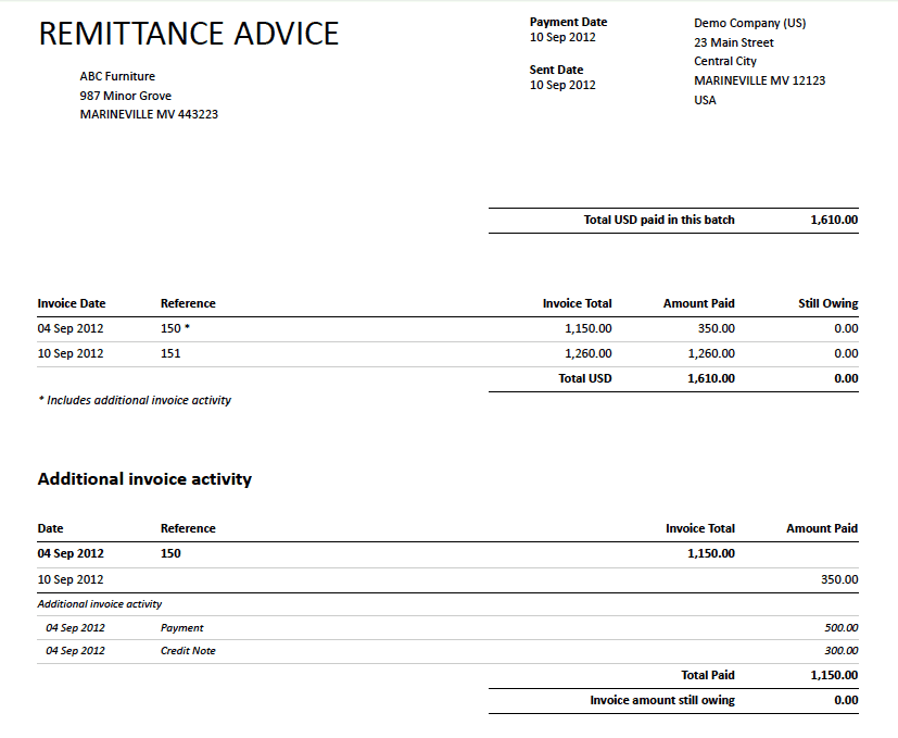 Good Word MS Templates Regarding Payment Remittance Template