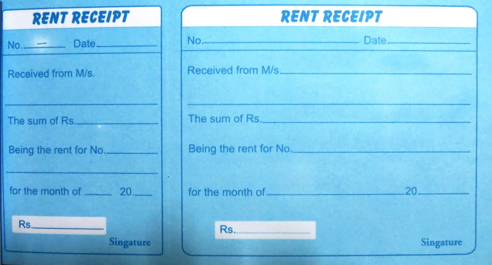 rent receipt templates excel pdf formats