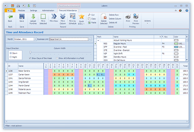 Word MS Templates  Employee Attendance Record Template