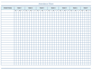 Attendance Tracking Templates Excel PDF Formats - Attendance tracker template