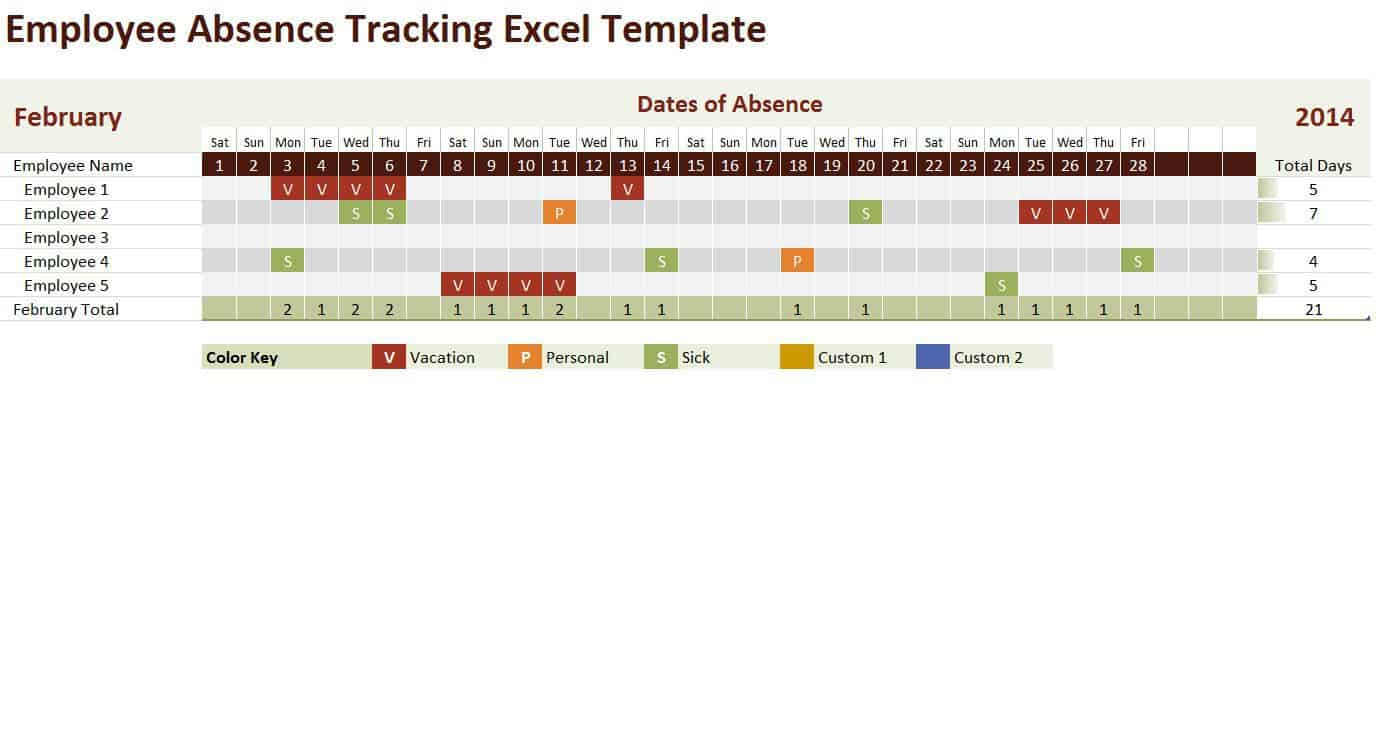 12 employee tracking templates excel pdf formats alramifo Image collections
