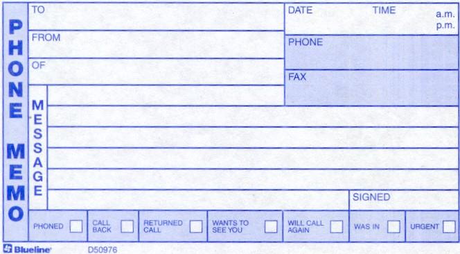 15 phone message templates
