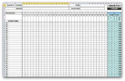 attendance list template 22