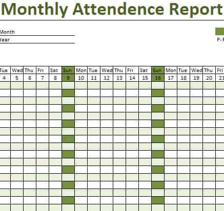 attendance list template 33