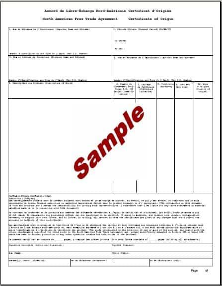 certificate of origin template 11