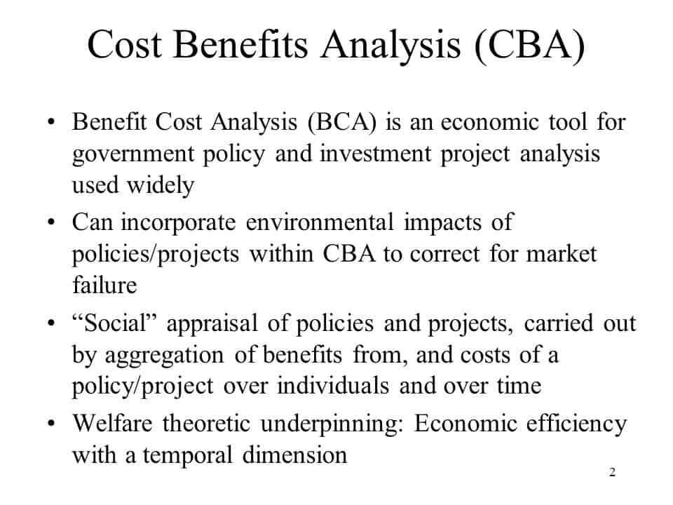cost benefit analysis template 33