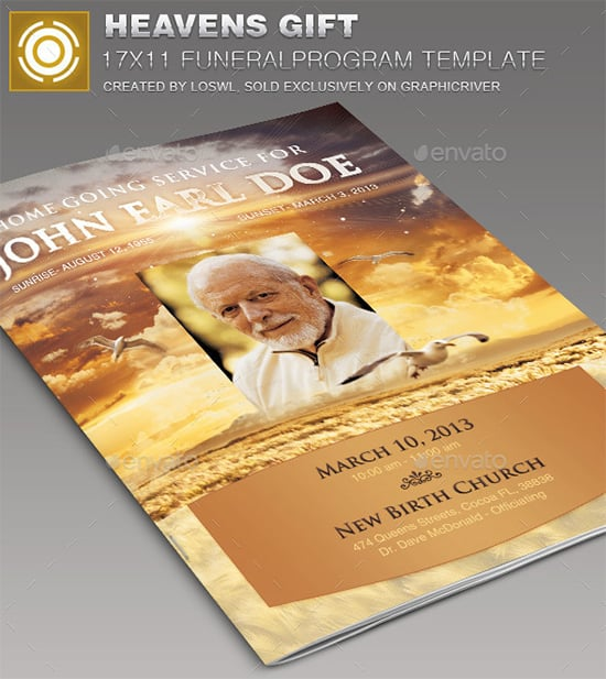 funeral program template 44