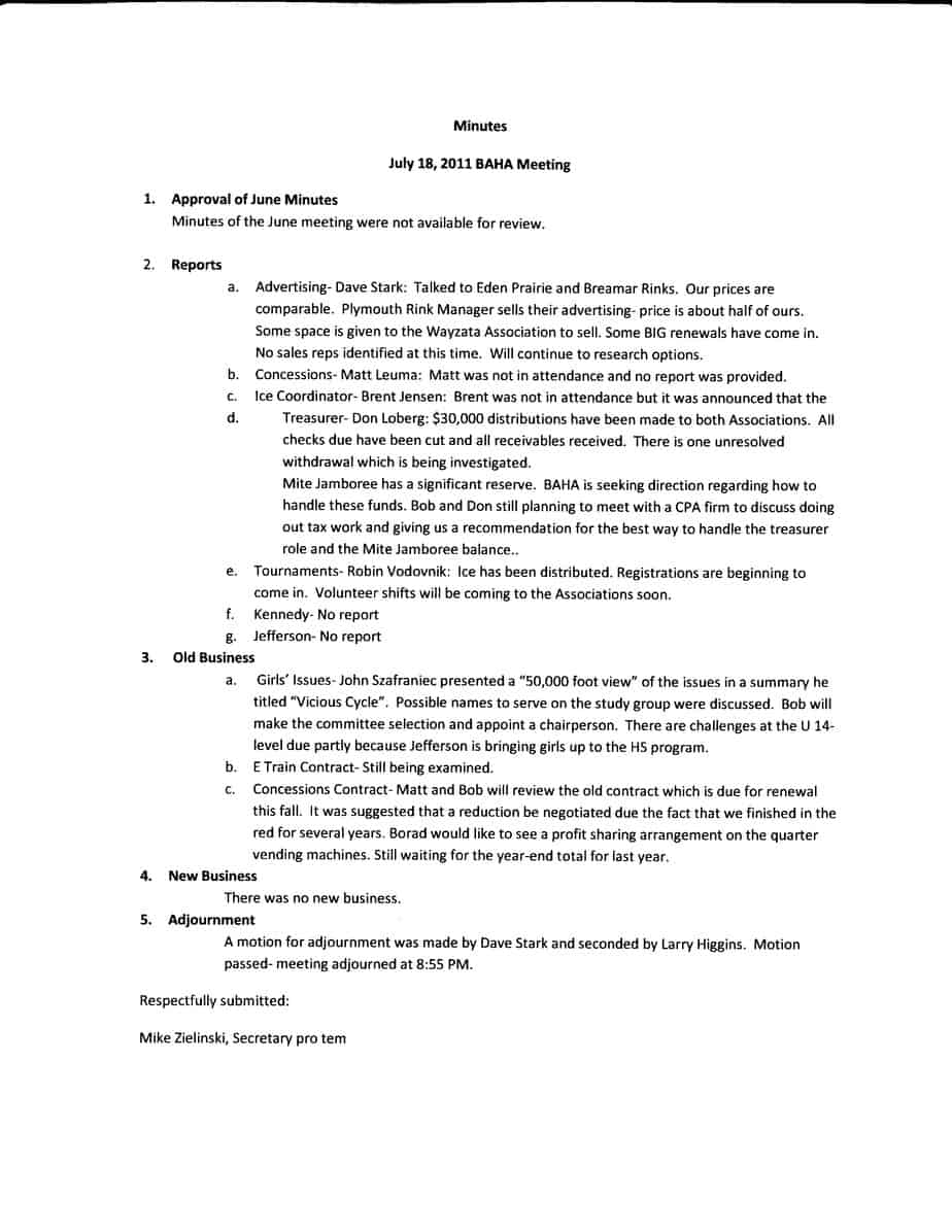 meeting minutes template 11