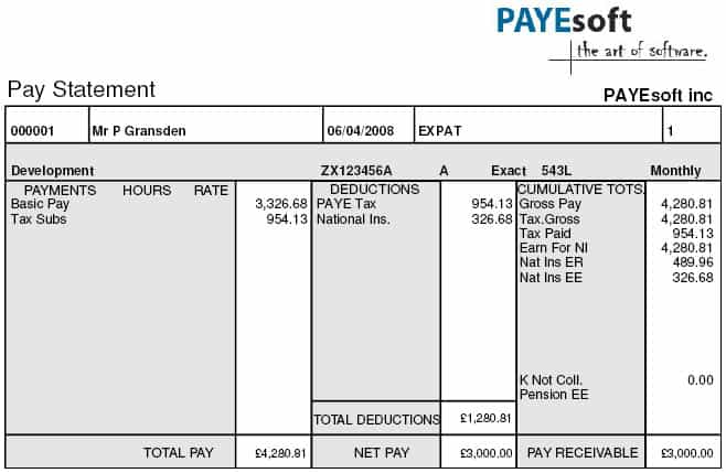 7 Payslip Templates - Excel PDF Formats
