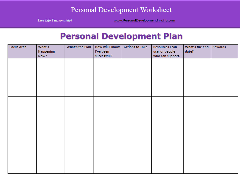 Personal Development Plan Template 11