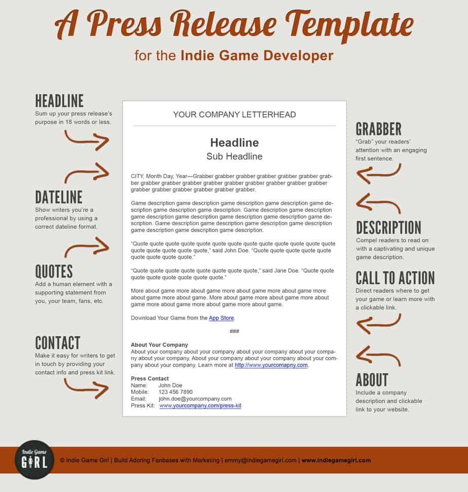 press release template 55