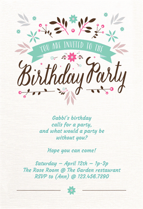 9 Birthday Invitation Templates