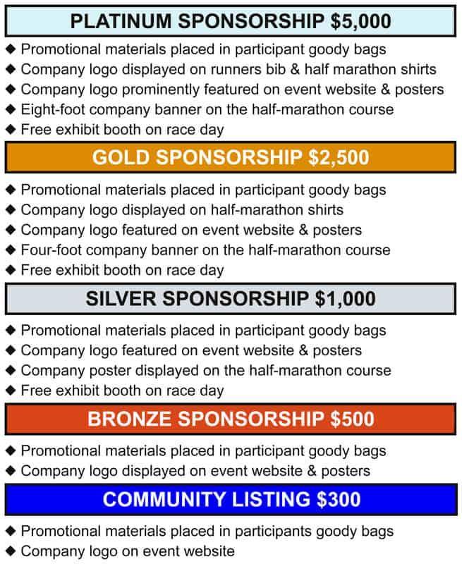 Writing companies sponsorship