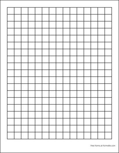 graph paper template 1245