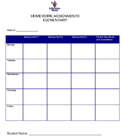 homework template 4474
