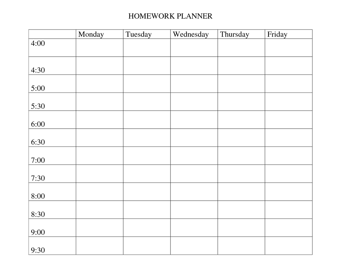 homework template 8741