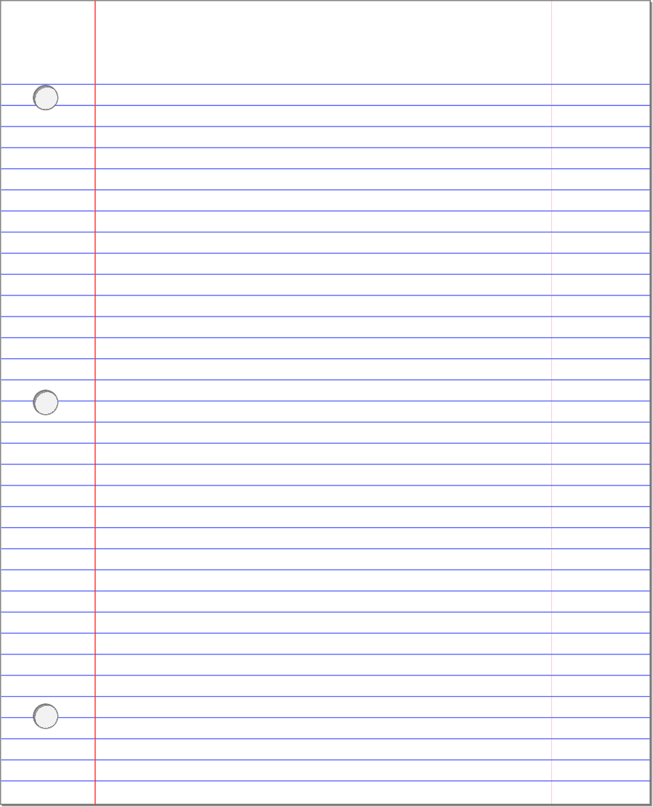 lined paper template 6589