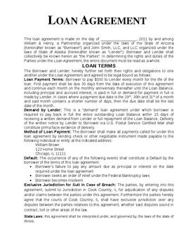 loan agreement template 2452