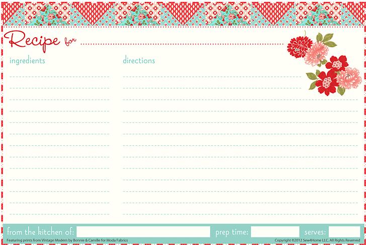 recipe card template 2154
