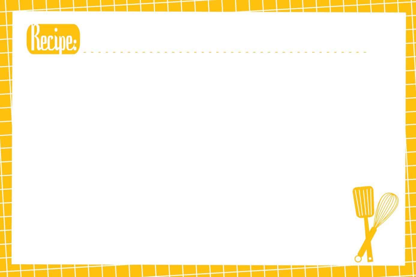 recipe card template 32364