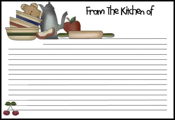 13 recipe card templates