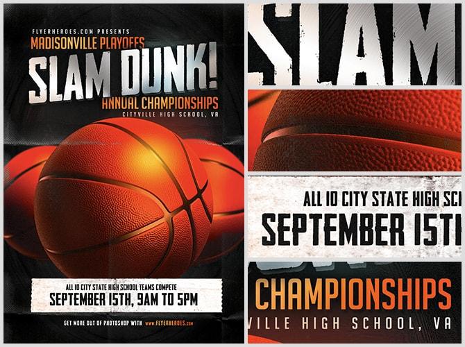Basketball Flyer Sample 22563