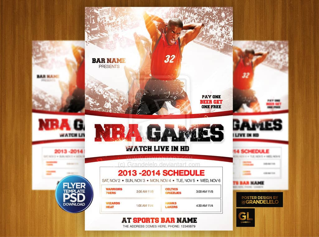 Basketball Flyer Sample 45787