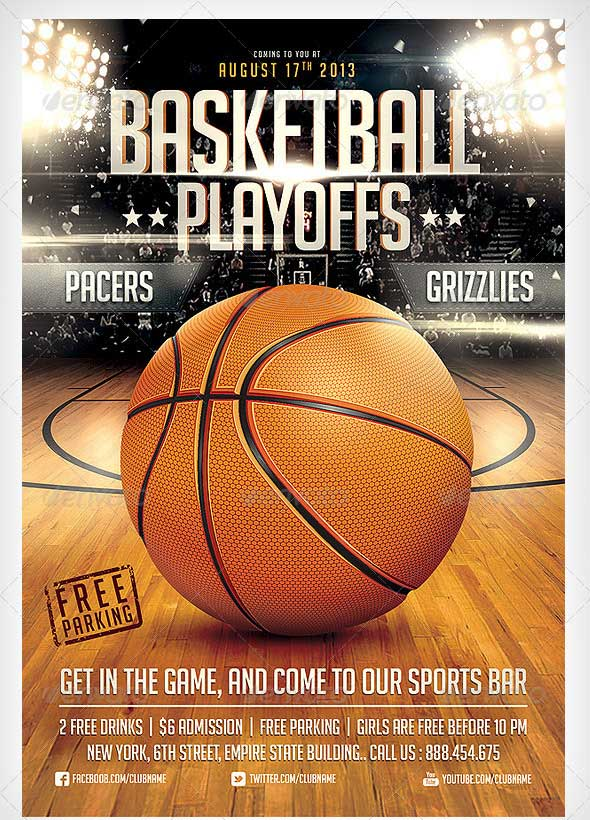 Basketball Flyer Sample 989