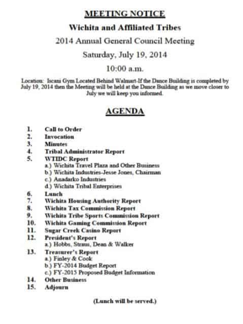 Meeting Agenda template 22589