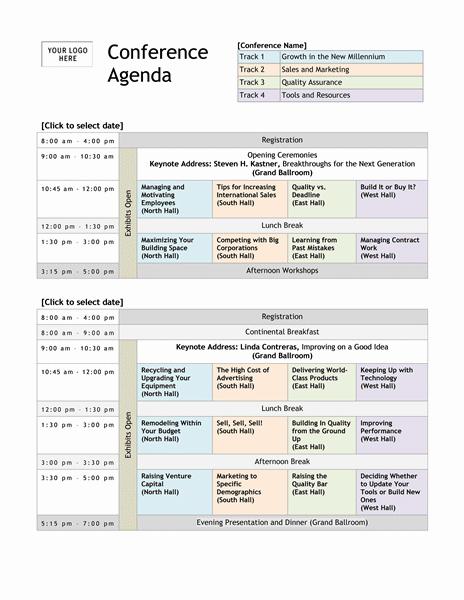 Meeting Agenda template 4578