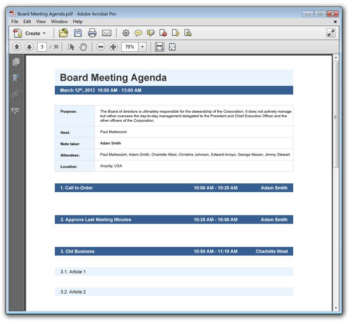 Meeting Agenda template 589+