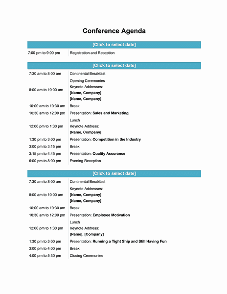 Meeting Agenda template 897