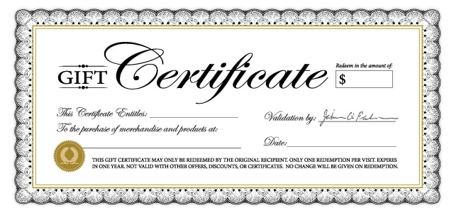gift certififate template 7846