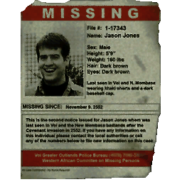 missing person poster template 9684