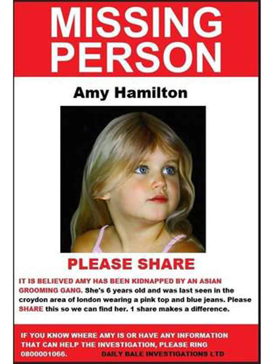 missing person poster template8777