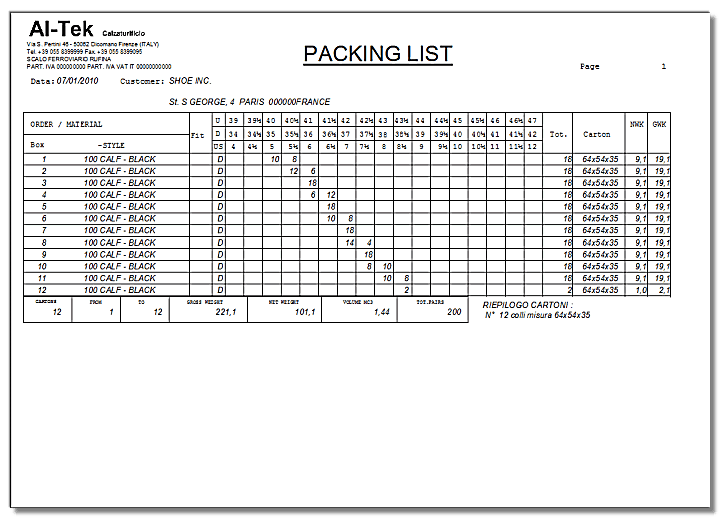 packing list template 9884