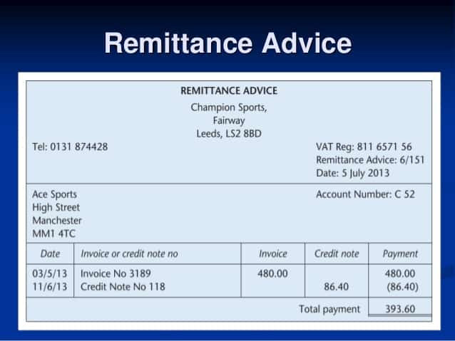 remittance template 17