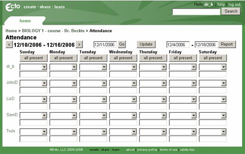 Attendance Tracking template 7787