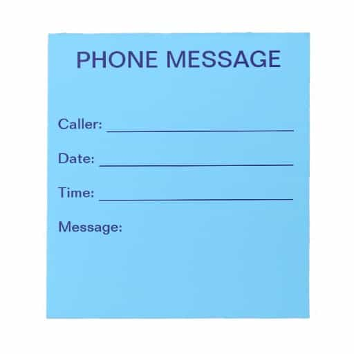 Phone Message Template 8585