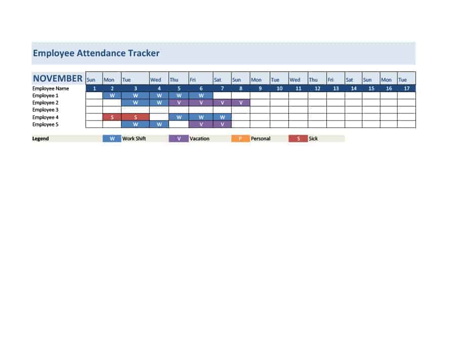 16 Attendance Tracking Templates - Excel PDF Formats