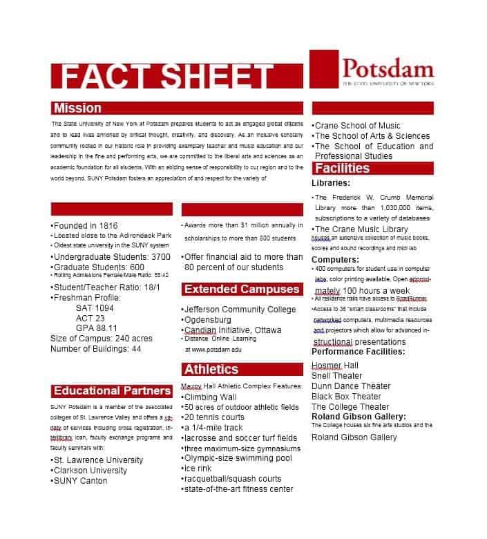 10 Fact Sheet Templates